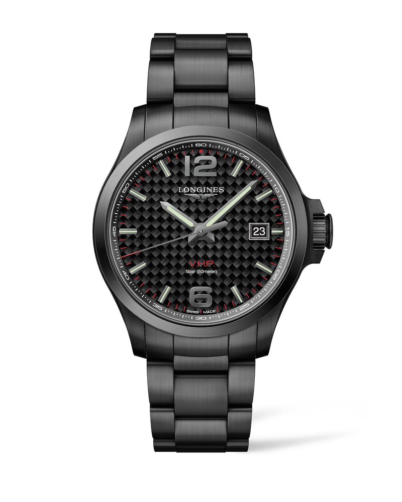 LONGINES Conquest V.H.P. 43MM Carbon Fiber Dial PVD  Longines