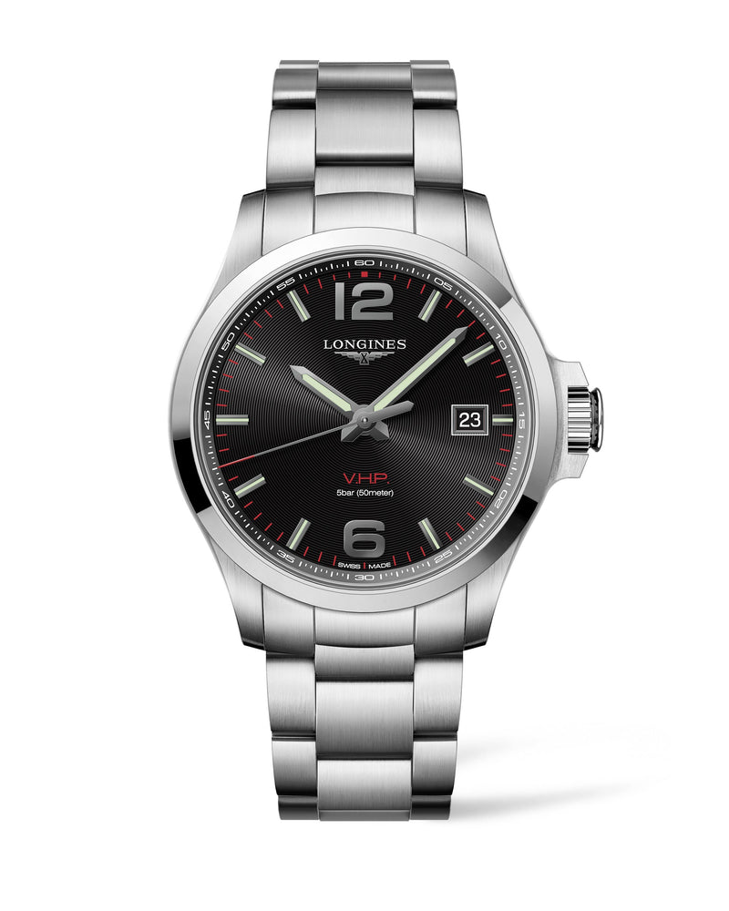 LONGINES The Longines Conquest V.H.P. 43MM Black Dial  Longines