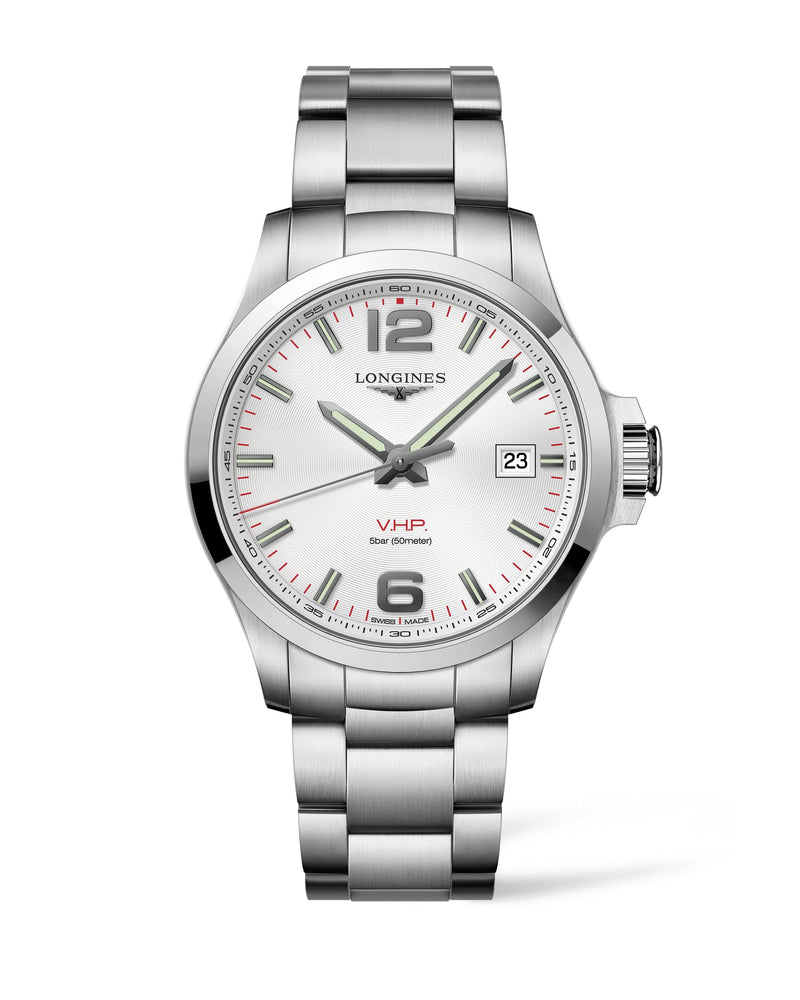 LONGINES The Longines Conquest V.H.P. 43MM Silver Dial  Longines