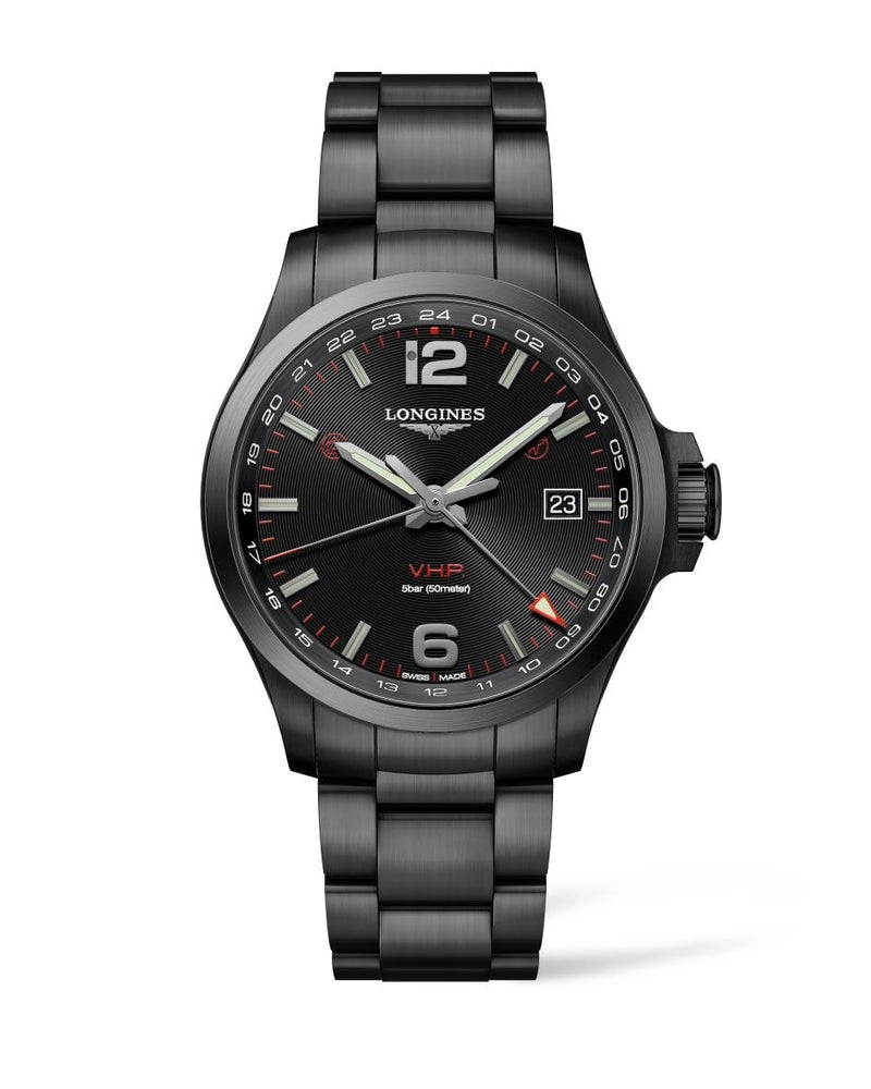 LONGINES Conquest V.H.P. GMT 43mm PVD  Longines