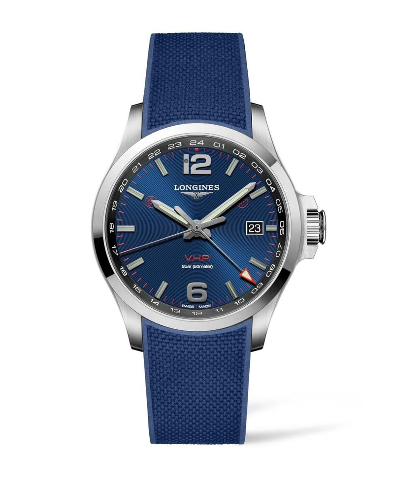 LONGINES Conquest V.H.P. GMT 43mm Blue Dial Stainless Steel  Longines