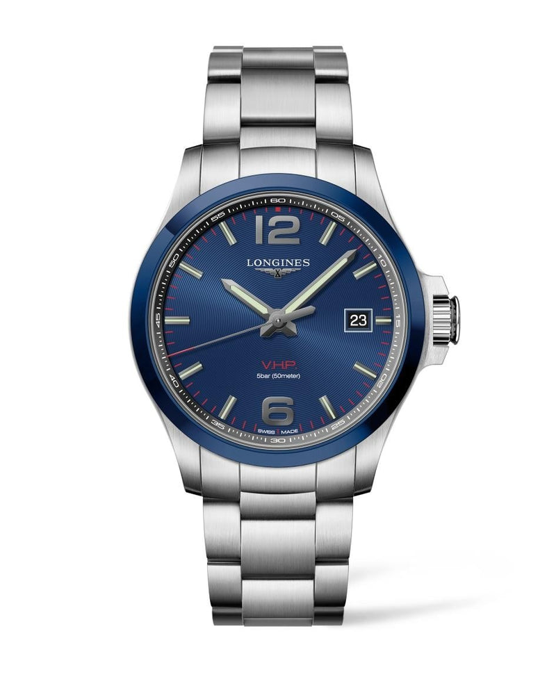 LONGINES Conquest V.H.P. 43mm Blue Dial Stainless Steel  Longines