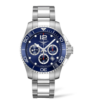 LONGINES HydroConquest 43mm Blue Dial Stainless Steel/Ceramic Chronograph  Longines
