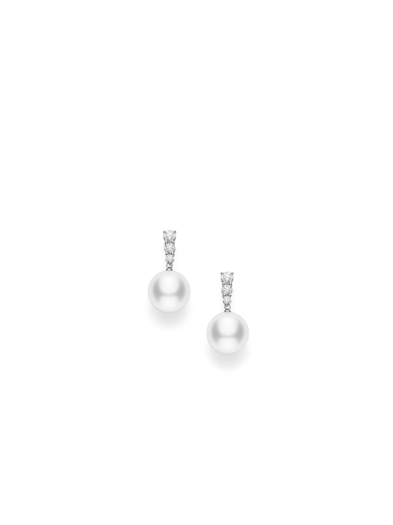 Mikimoto 18K White Gold White South Sea Earrings  Mikimoto