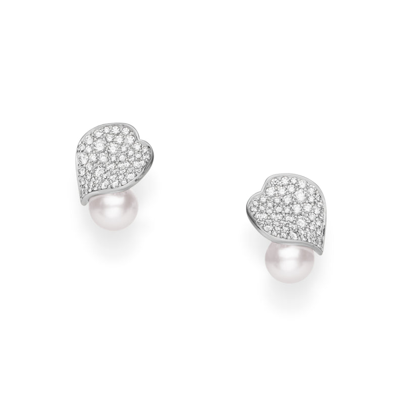 Mikimoto Petal Akoya Cultured Pearl Earrings  Mikimoto