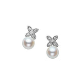 Mikimoto Akoya Pearl Flower Earrings  Mikimoto