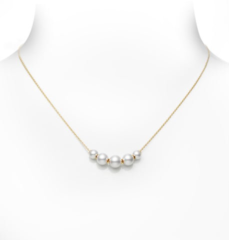 Mikimoto Akyoa Cultured Pearl Stations Necklace  Mikimoto