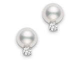 Mikimoto Akoya Cultured Pearl Stud Earrings  Mikimoto