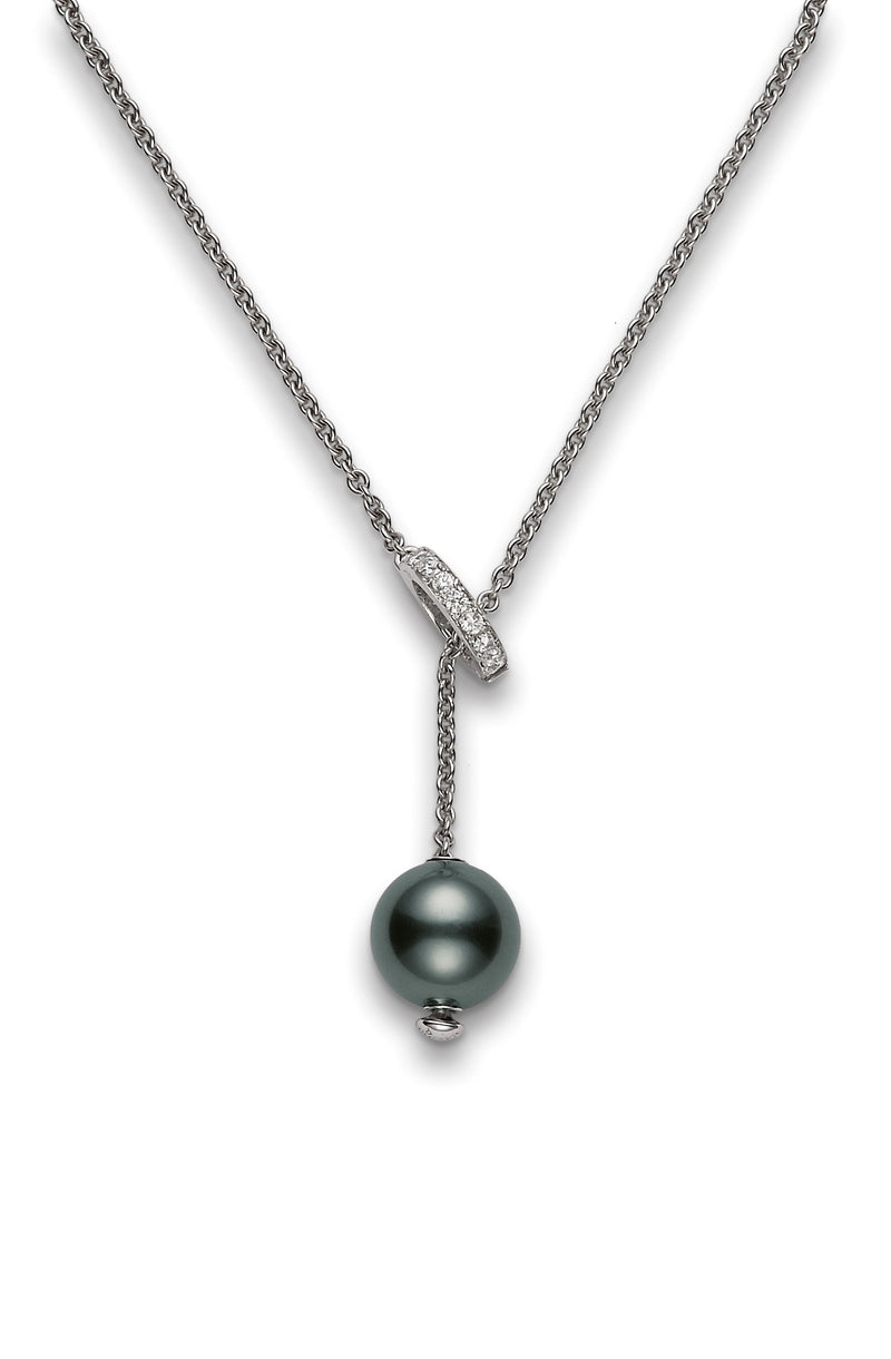 Mikimoto Black South Sea Cultured Pearl Necklace  Mikimoto