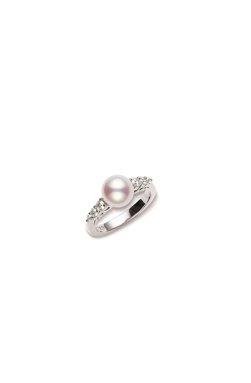 Mikimoto Morning Dew Akoya Cultured Pearl Ring  Mikimoto