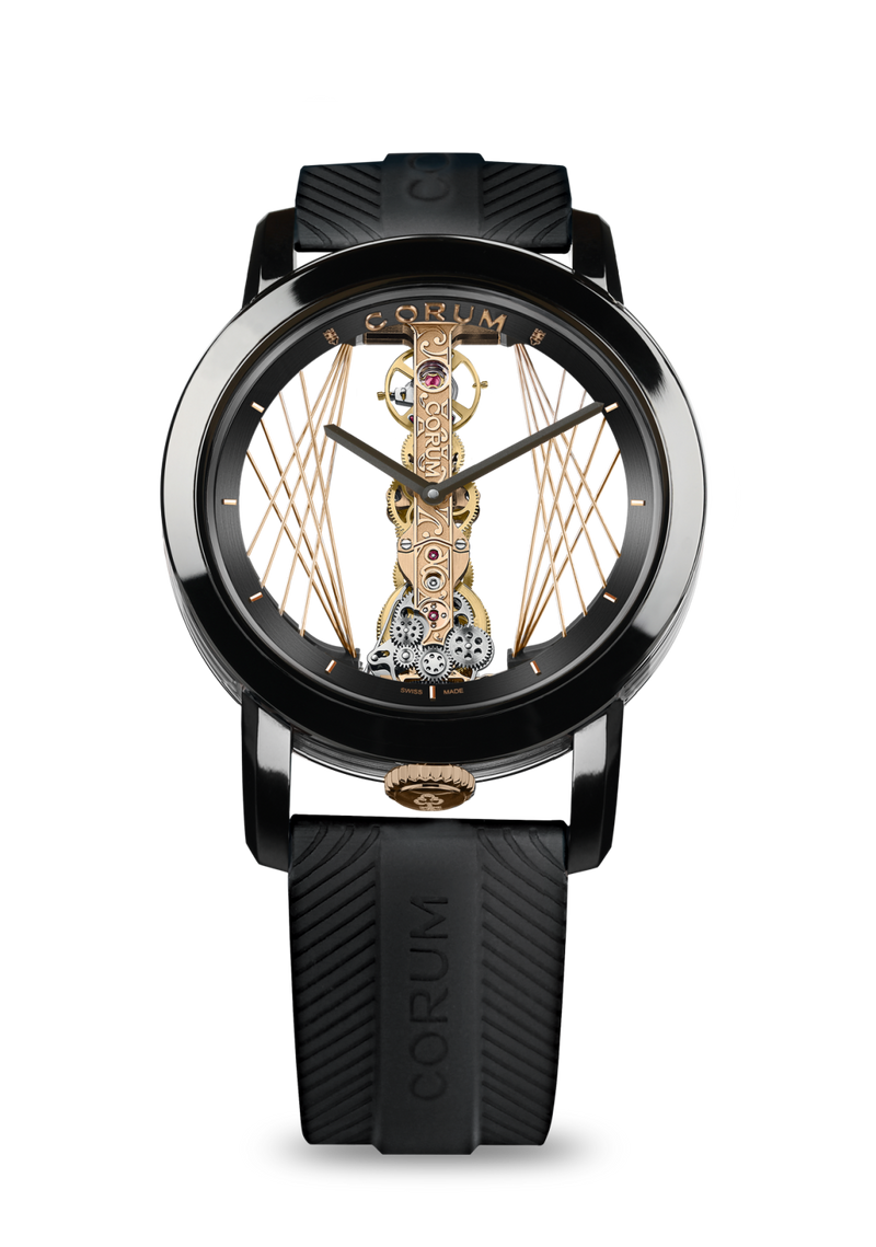 Price Golden Bridge Round 43 Art Deco  Corum