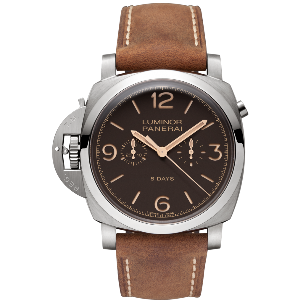 Panerai PAM00579 - Luminor 1950 Chrono Monopulsante Left Handed 8 Day Power Reserve Titanio  Panerai