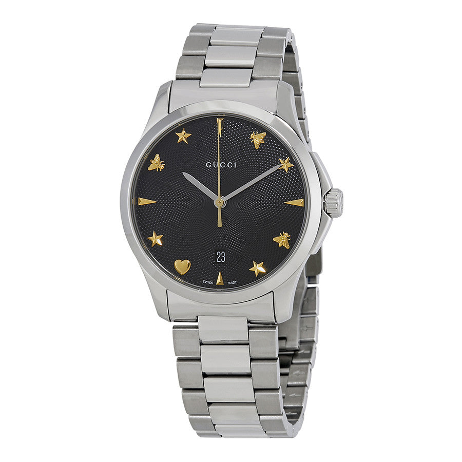 Gucci G Timeless Black Dial Watch  Chong Hing Jewelers