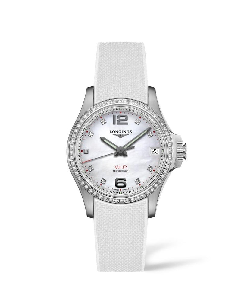 LONGINES Conquest V.H.P. 36mm Stainless Steel with Diamonds  Longines