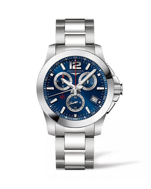 LONGINES Conquest 41mm Blue Dial Chronograph  Longines