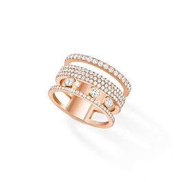 Move Romane GM Pavé  - Ring - Rose Gold  Messika