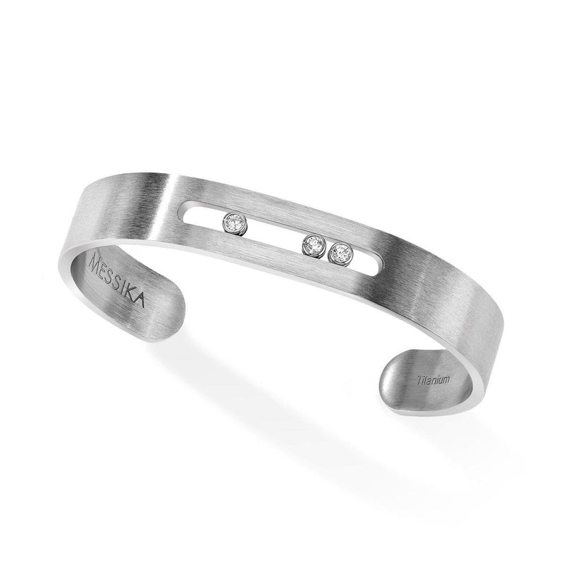 Move Titanium Bangle Bracelet - Natural Titanium  Messika