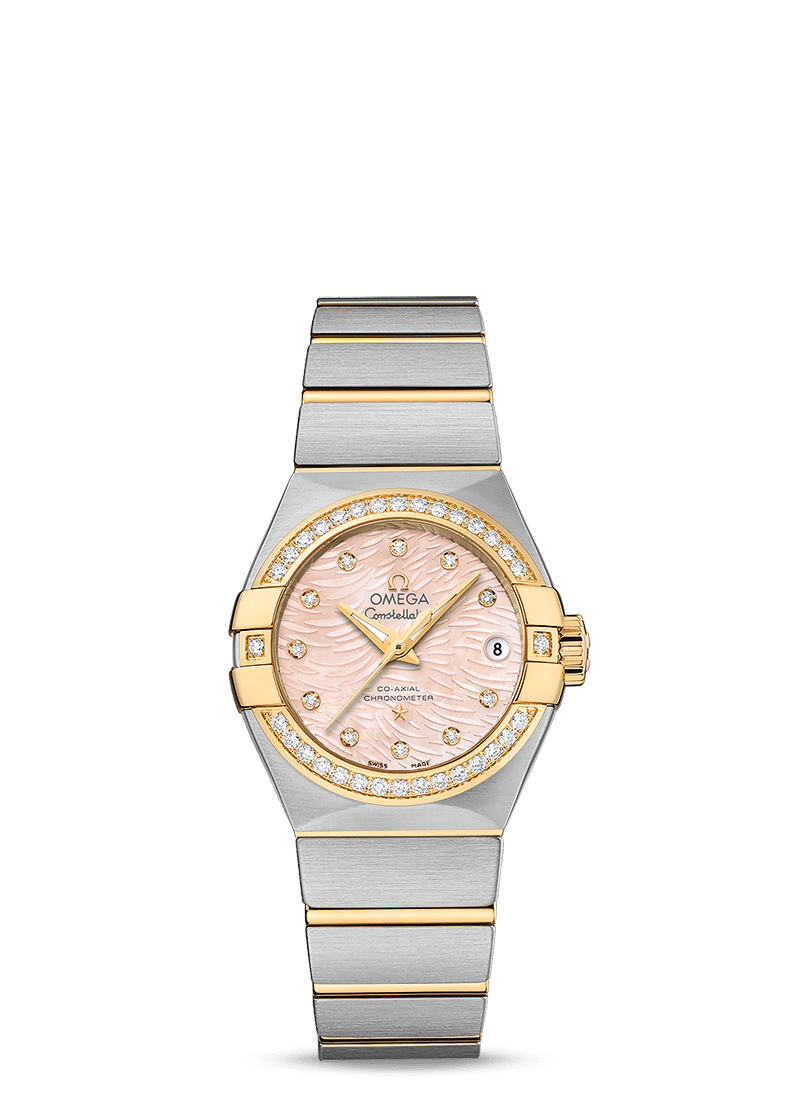 CONSTELLATION OMEGA CO‑AXIAL 27 MM - Steel/Yellow Gold on Steel/Yellow Gold  Omega