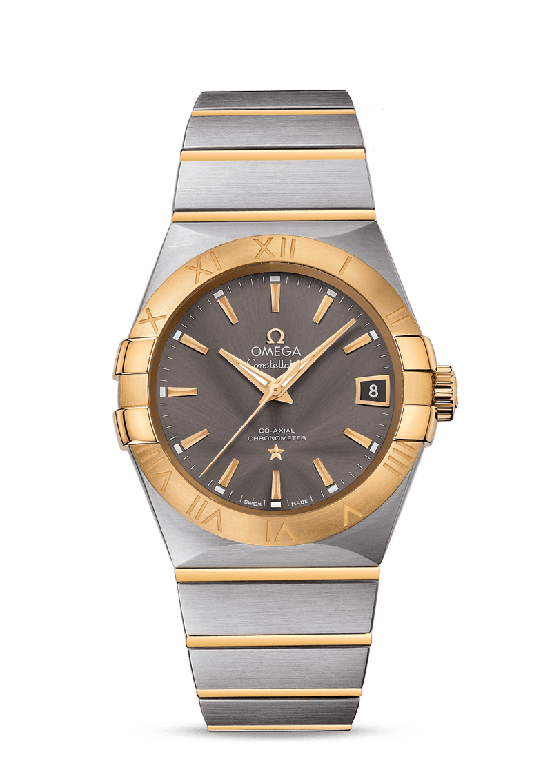 OMEGA CONSTELLATION OMEGA CO‑AXIAL 38 MM - Steel/Yellow Gold on Steel/Yellow Gold  Omega