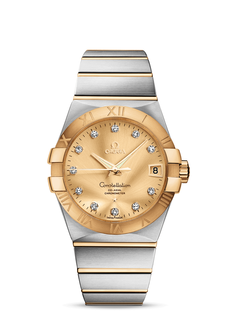 CONSTELLATION OMEGA CO‑AXIAL 38 MM - Steel/Yellow Gold on Steel/Yellow Gold  Omega