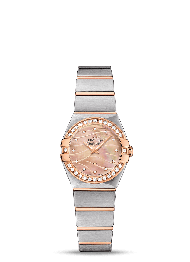 OMEGA CONSTELLATION QUARTZ 24 MM - Red Gold on Steel/Red Gold  Omega