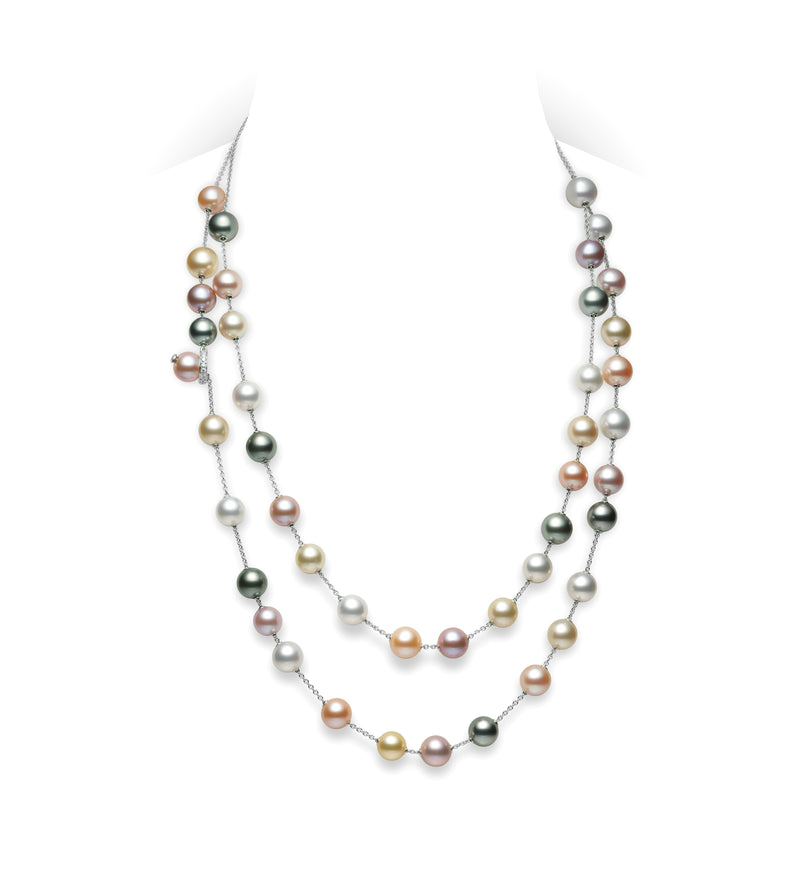Mikimoto Pearls in Motion Necklace in Multicolor Pearls  Mikimoto