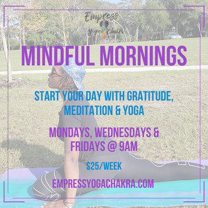 Mindful Mornings Weekly Pass 1/26