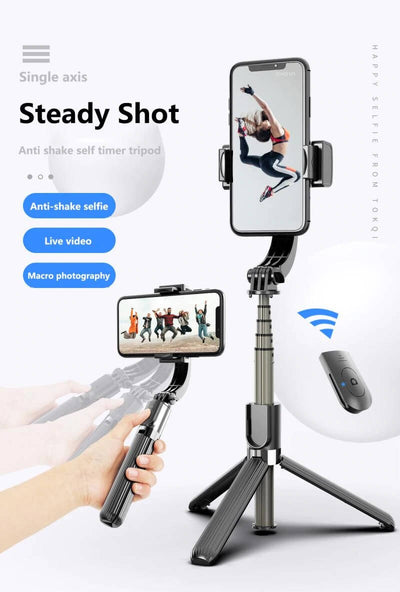 3D SMART BLUETOOTH HANDHELD SMOOTH GIMBAL - With Stabilizer