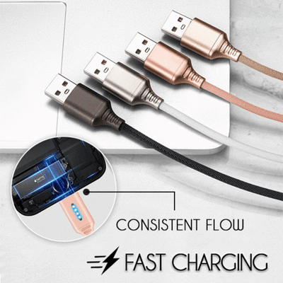 Auto Cut-off Fast Charging Nylon Cable