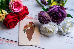 Give Black Women Their Flowers Card