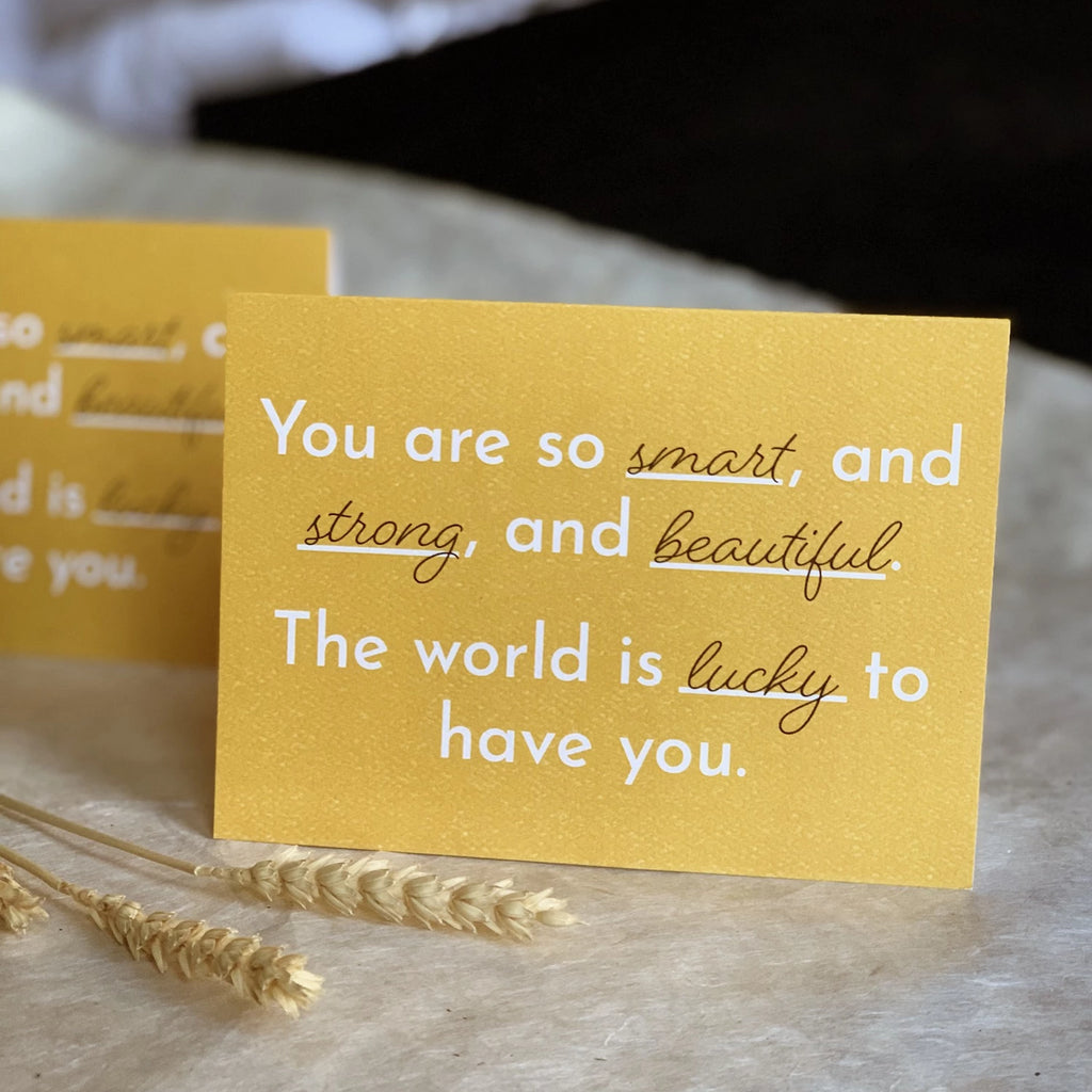 """You are so Strong"" Greeting Card"