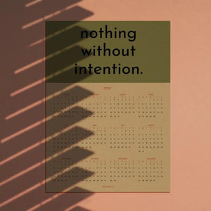 Intention 2020 Calendar