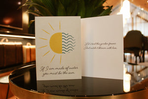 Water and Sun Card