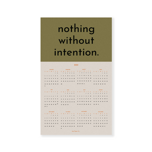 Intention 2021 Calendar
