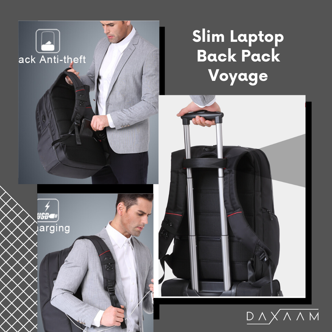 Slim Laptop Backpack Anti Vol