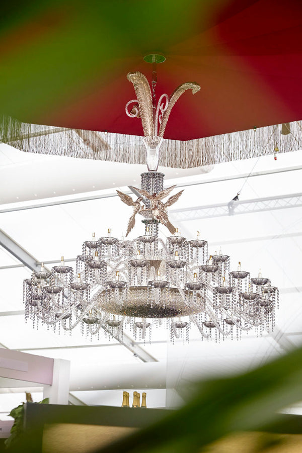 Champagne Bar with Clartés Chandelier Got Awarded