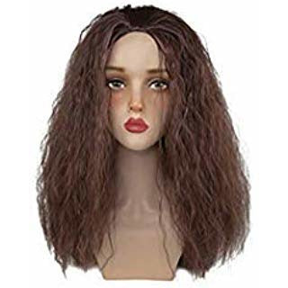 Moana Waialiki Cosplay Wig Brown Color Long Curly Permed Hair Cosplay and Halloween Wig