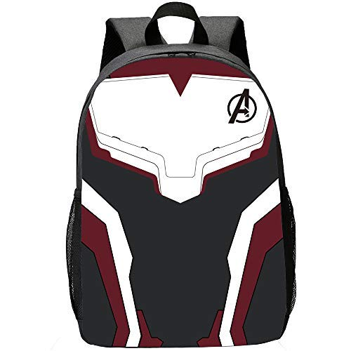 Avengers Backpack for School, Classic Water Resistant Casual Daypack Student Polyester Bookbag Large Capacity Lightweight Backpack