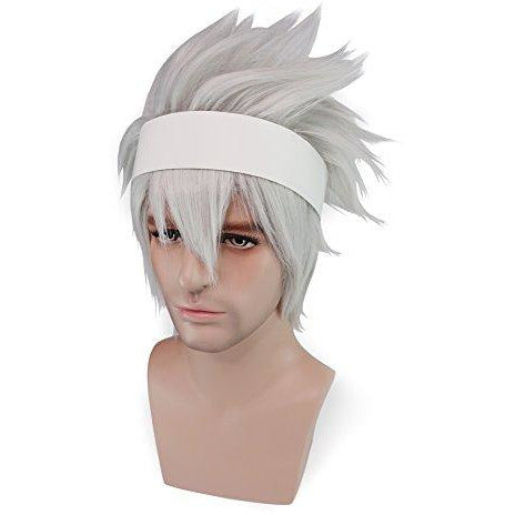 Soul Eater Evans Cosplay Wig White Hair Soul Eater Halloween Costume Wig