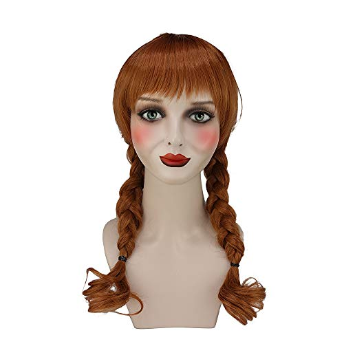Annabelle Wig Conjuring Cosplay Brown Double Tails Hair Cosplay and Halloween Wig
