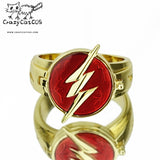CrazyCatCos The Flah Ring Cosplay Ring Lightning Logo Prop Alloy Ring