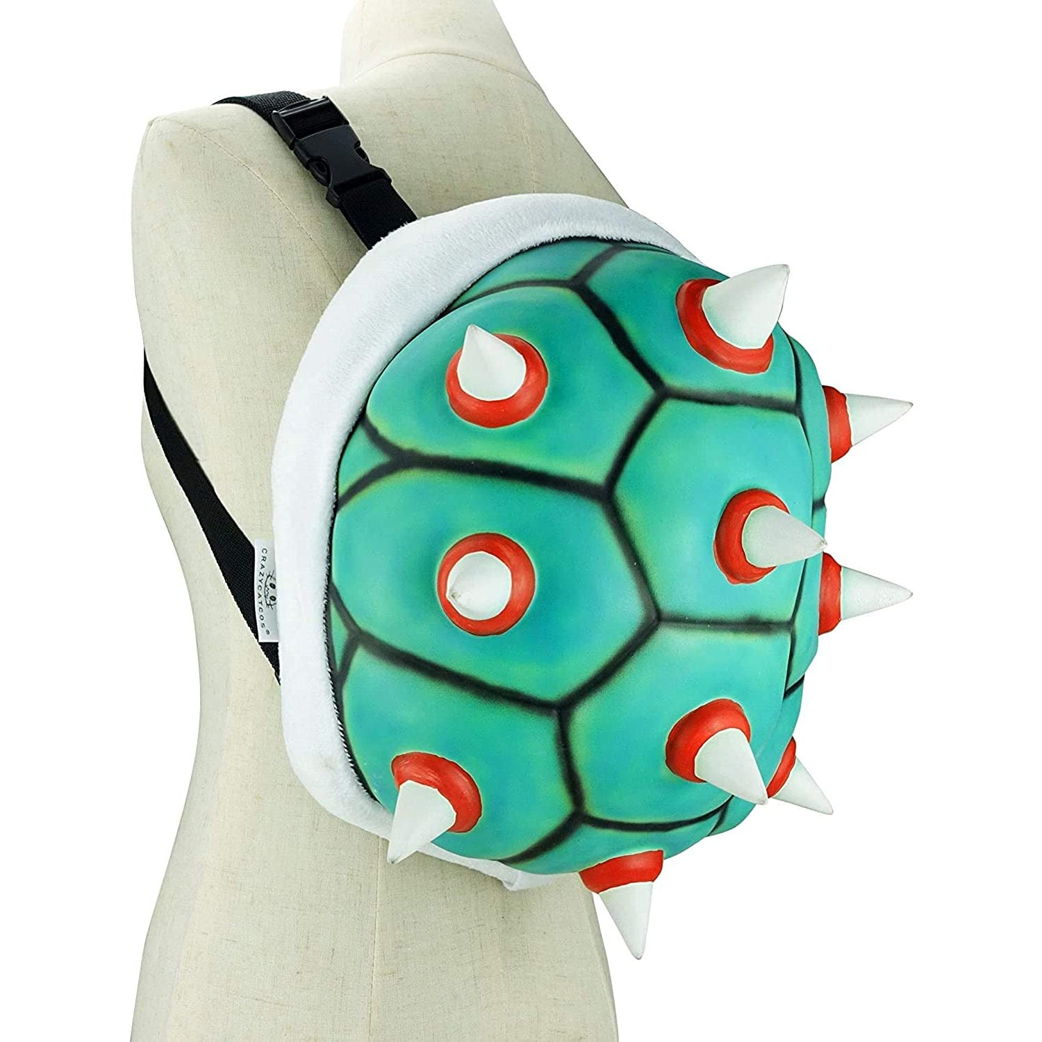 Koopa Troopa Backpack Turtle Style Spiked Shell Bag Cosplay Costume Prop from Super Mario Bowser Accessory