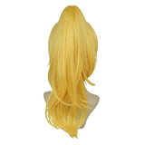 Super Mario Bowsette Cosplay Wig Yellow Hair Halloween Costume