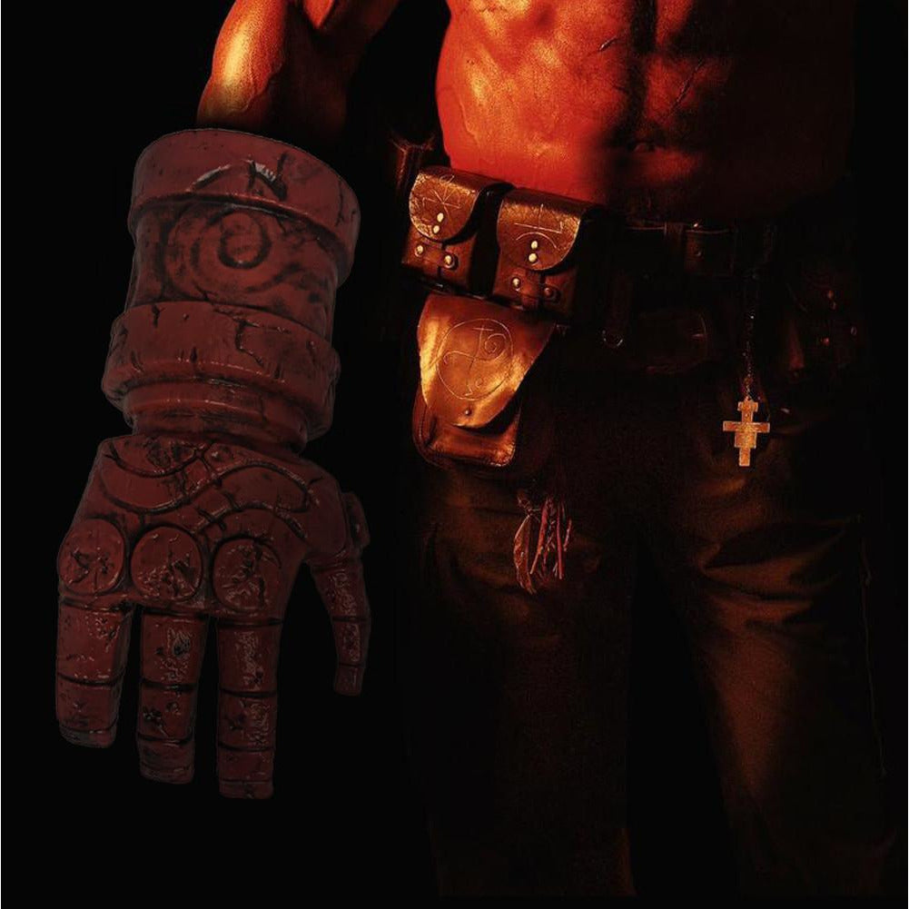 Hellboy Cosplay Red Arm Glove Costume Props Accessories Hand Adult Halloween New