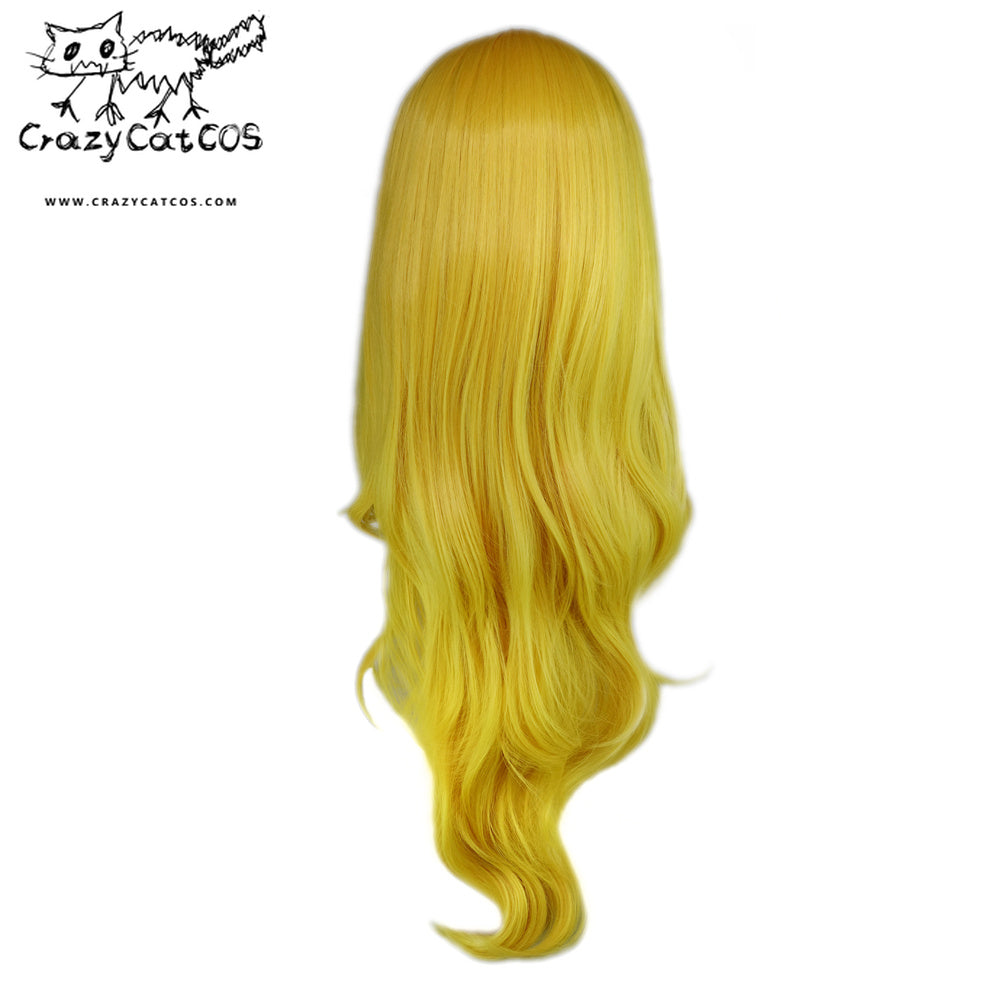CrazyCatCos Princess Peach Cosplay Wig Gold Hair Super Mario Halloween Costume Wig