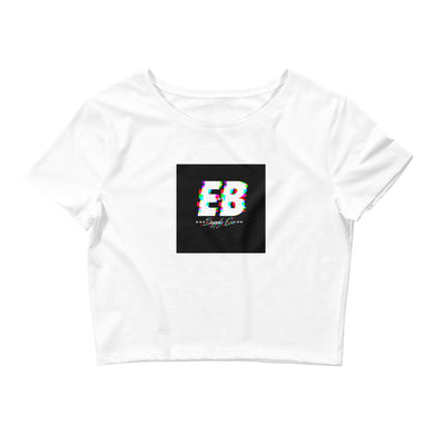 EB Glitched Crop Top - Black