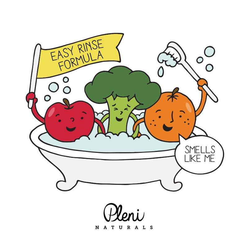 Pleni APPLE + BROCCOLI HAIR & BODY WASH - The Beauty Garden Boutique