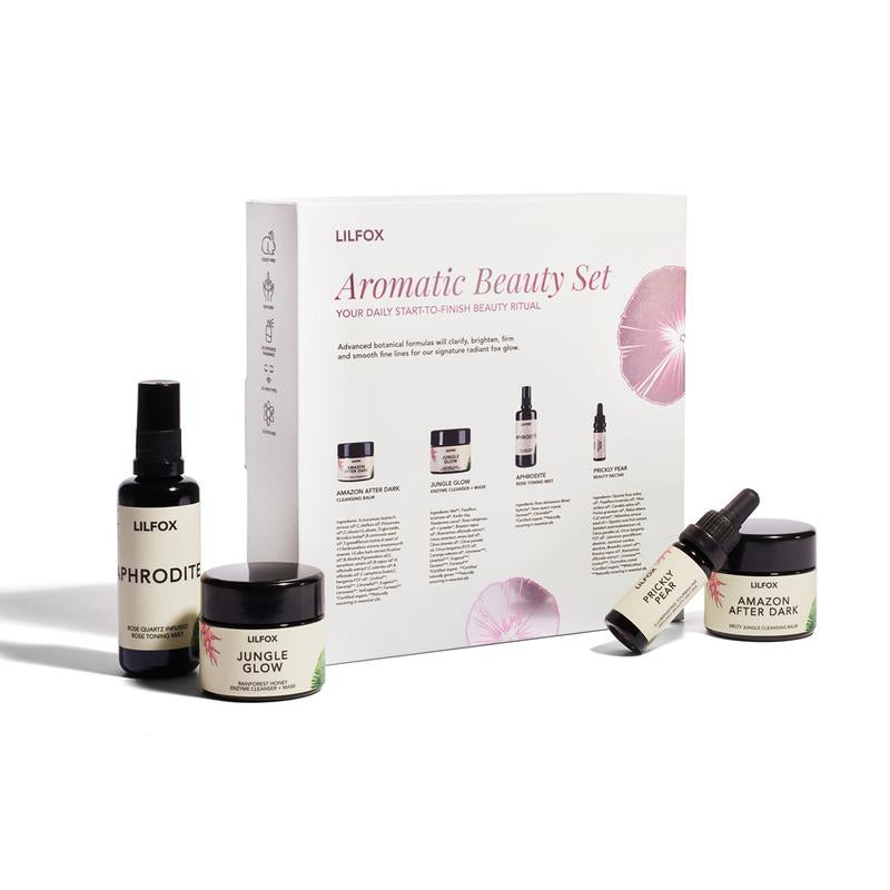 LILFOX | AROMATIC BEAUTY ESSENTIALS Daily Skincare Set | The Beauty Garden Boutique