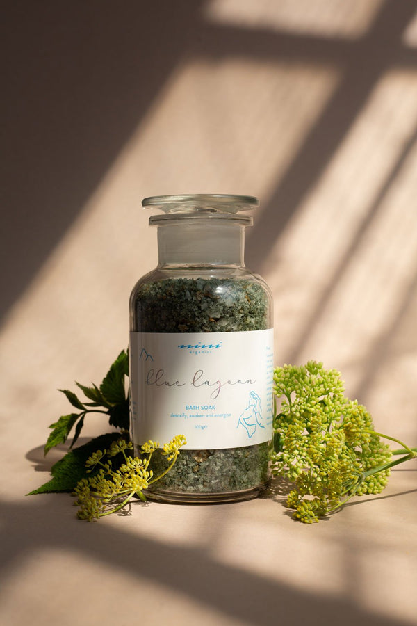 Nini Organics | Blue Lagoon Bath Soak | The Beauty Garden