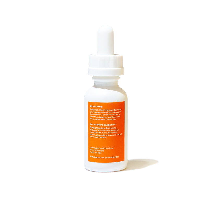 Fifth & Root | drops of sunshine Revitalizing Wellness Tincture 1,000 mg CBD + Terpenes | The Beauty Garden Boutique